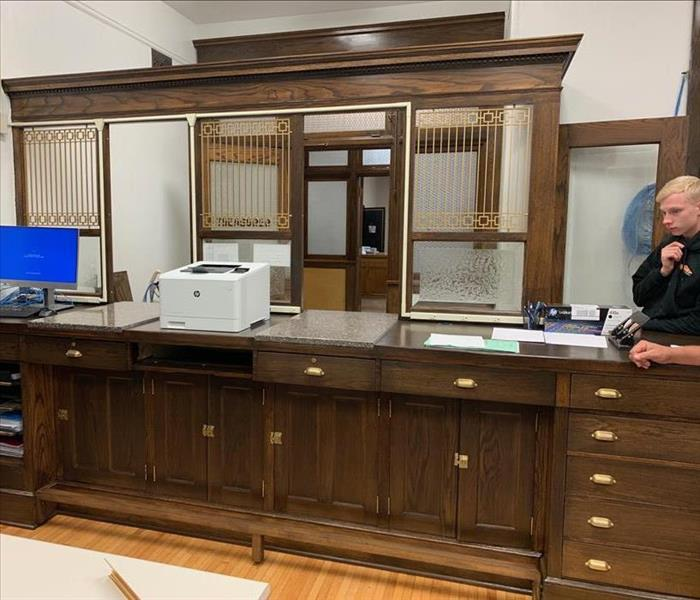 Historical Courthouse Treasurer Desk