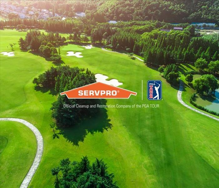 Image of SERVPRO logo and golf course